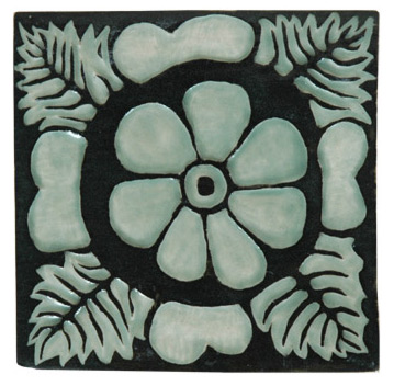 Celadon Flower Tile