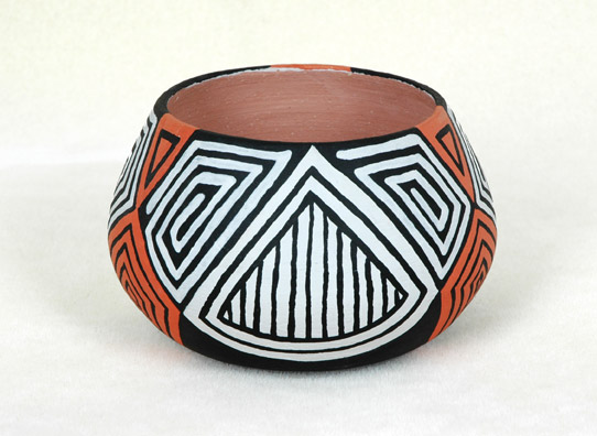 Orange and Black Coil Pot