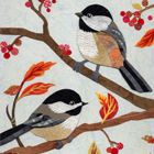 Autumn Chickadees Collage
