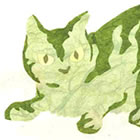 Green Cat Collage