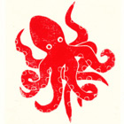 Block Print Octopus Cards