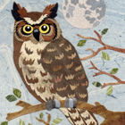 Owl Moon 2 Collage